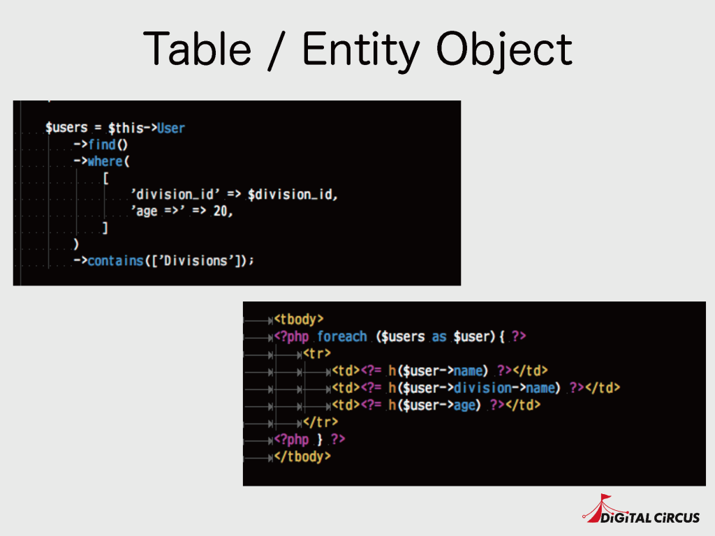 Table / Entity Object